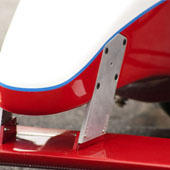 Front nose and attached arms of a Formula B F1000 race car