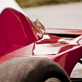 close side shot of the exterior of the F1000 race car