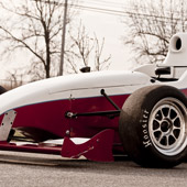 front nose and aerodynamic wing of Formula B F1000 race car