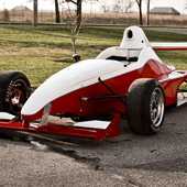 frontal view of the Formula B F1000 race car from Philly Motor Sports