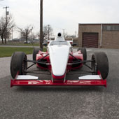 head-on view of the F1000 race car designed for Formula B racing by Philly Motor Sports