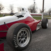 Middle section and rear wing of the Formula B F1000 race car