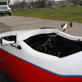 view of the interior of the cockpit of the F1000 race car from Philly Motor Sports