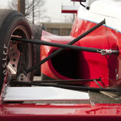 F1000 race car and triangulated side impact frame rails