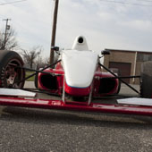 Shot of the front nose of the F1000 race car from Philly Motor Sports - Formula B