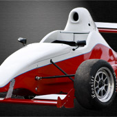 Doctored shot of the F1000 race car from Philly Motor Sports - Formula B